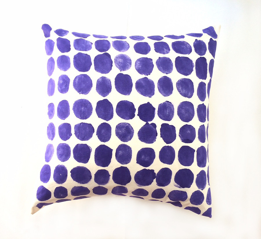 Periwinkle Circles Decorative Pillow Carrie Joan Studio Impressive Decorative Pillows With Circles